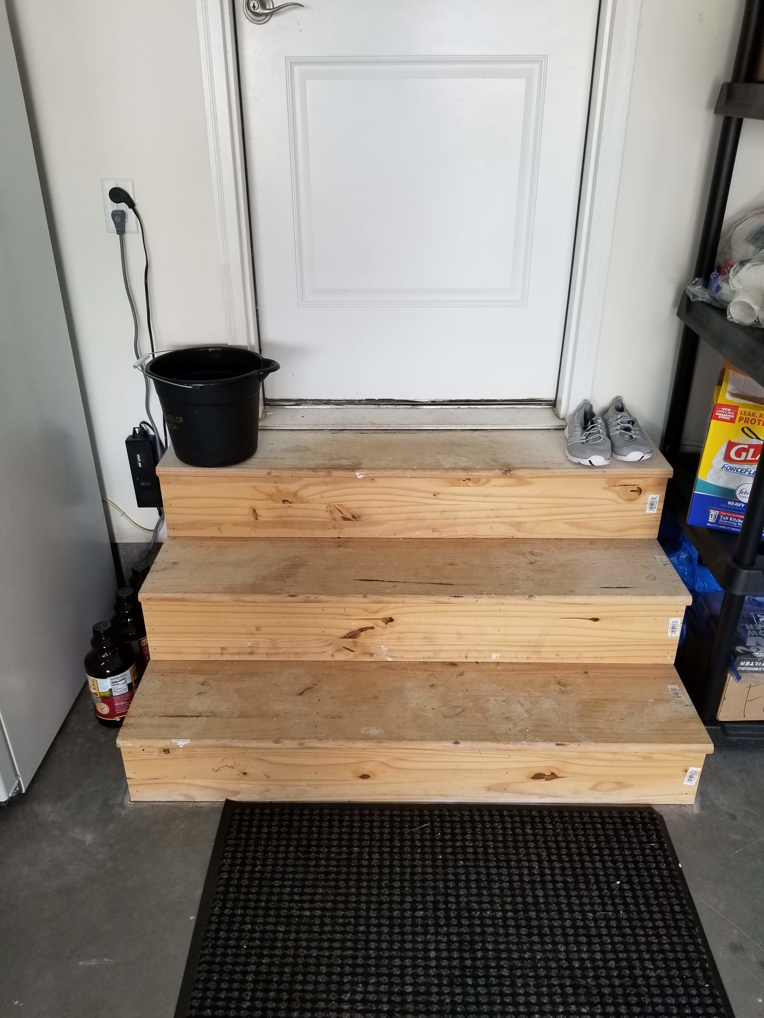 Small Step Railing build (Walnut Stain)