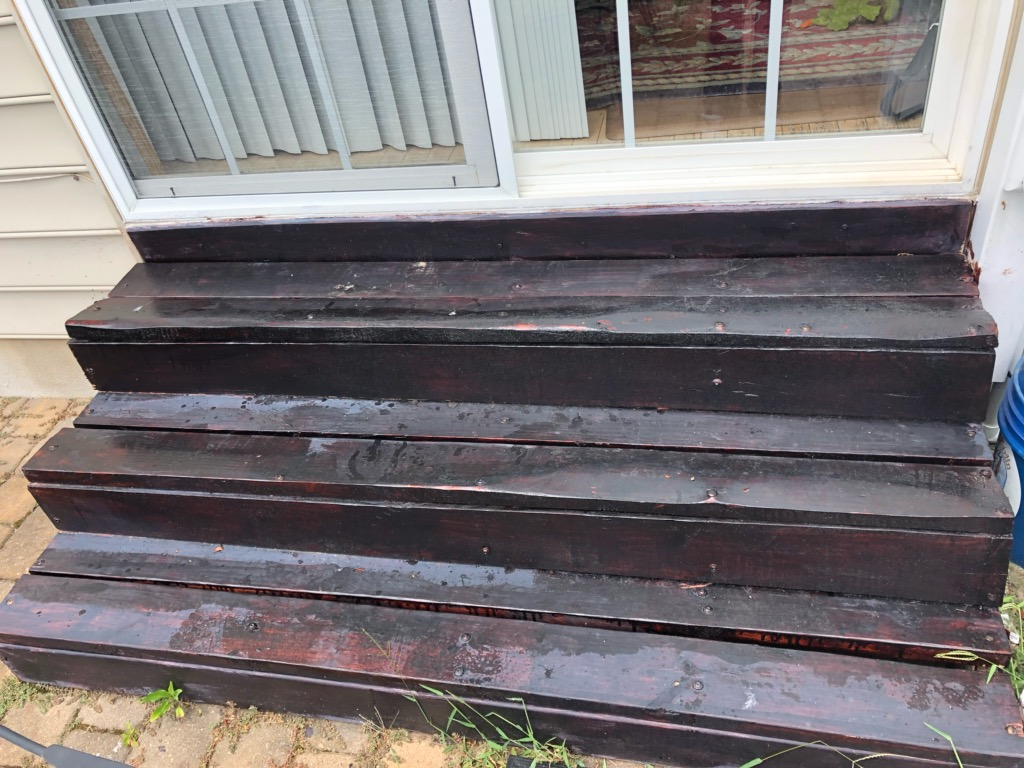 Removed and installed new stained stairs