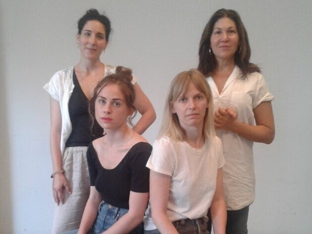 Photo by Alice Spivik  Photo of Julia Marie Peterson, Maris Jones, Lavinia Jones Wright, Dana Segl
