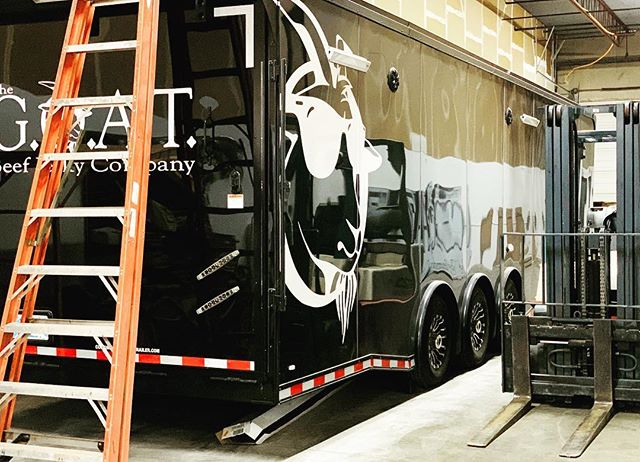 Getting the trailer ready for those warmer days and events 🐐 #thegreatestofalltimebeefjerkyco #thegoatbjc #greatestofalltime #foodie  #beefjerkytime #shopsmallbusiness #shoplocal #gourmet #g.o.a.t.notgoat #beefjerky #sunnyday