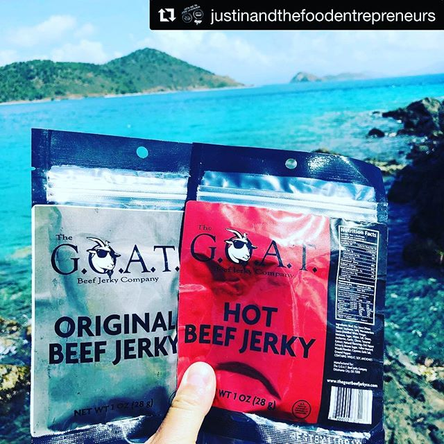 #tbt when we ate a bunch of beef jerky in the US Virgin Islands.... Episode 8: J.R. Towe, the owner and founder of The G.O.A.T. Beef Jerky Company, in Oklahoma City, Oklahoma. Being the Greatest of All Time. Seeing Opportunity Knock. Making Time for Family. Always Being Honest.  iPhone or Android Phone: https://justinandthefoodentrepreneurs.podbean.com/feed.xml  Episode Link: https://justinandthefoodentrepreneurs.podbean.com/mf/play/wag7nh/JATFE_Episode_8.mp3  Hosted By: Deborah Michas (IG: @deborahmichas) & Justin Bizzarro (IG: @justinbizzarro)  Episode Notes: 1) Never give up, as opportunities come after hard work and grit. 2) Being the Greatest of All Time. Sunglasses are a necessity. 3) Being honest about your time with your family sets real expectations and avoids disappointments. 4) Believe in yourself, believe in your product, and dream big. 5) Build a brand people will recognize.  Adjust that brand at the beginning in order to match the vision and goals of your food business.  Website: https://.shop.thegoatbeefjerkyco.com Instagram: @theg.o.a.t.beefjerkyco Facebook: @thegoatbeefjerkyco  Stay Tuned for Episode 10 on Wednesday, where we interview Melanie Wade, the owner and founder of Cultured South Fermentation Co., Golda Kombucha, Atlanta Fermentation Festival, and Pure Abundance Food in Atlanta, Georgia.  Website: www.culturedsouth.com Instagram: @culturedsouth ( #cultureliveshere )  Website: www.goldakombucha.com Instagram: @goldakombucha ( #goldakombucha )  Website: www.atlantafermentationfest.com Instagram: @fermentationfestatl ( #itsfineunderthebrine )  Website: www.pureabundancefoods.com Instagram: @pureabundancefood  Stay Tuned for Episode 11 on Friday, where we interview Josh House, the owner and founder of the Pickles and Bones Barbecue in Milford, Ohio.  Website: www.picklesandbones.com Instagram: @picklesandbonesbbq Facebook: @picklesandbones  Free Podcast.  No Advertisements.  The stories of Food Entrepreneurs and how their failures led to the successes in their lives and in their business.  What does the future have in store for the food entrepreneur?  JUSTIN AND THE [FOOD] ENTREPRENEURS Email: justin.bizzarro@gmail.com ・・・ #Repost @justinan