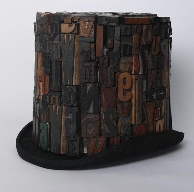 Type Face Hat by Takumi Segi and Olivia Pracher
