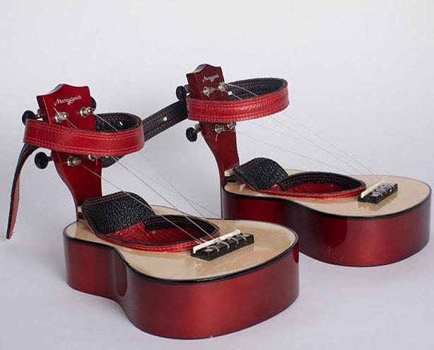 Ukelele Shoes by Tae Gyung Kang
