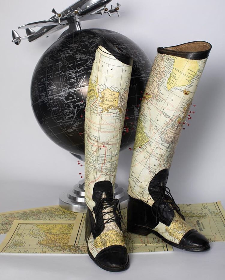Map Boots by David Kim