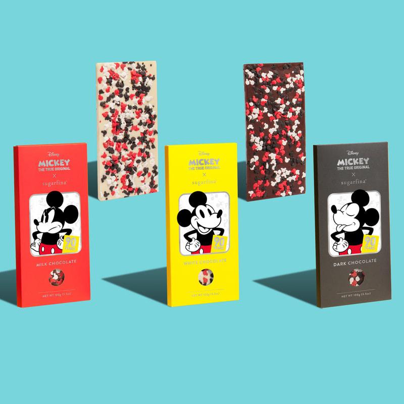 Disney Mickey Mouse Milk, White, and Dark Chocolate Bars