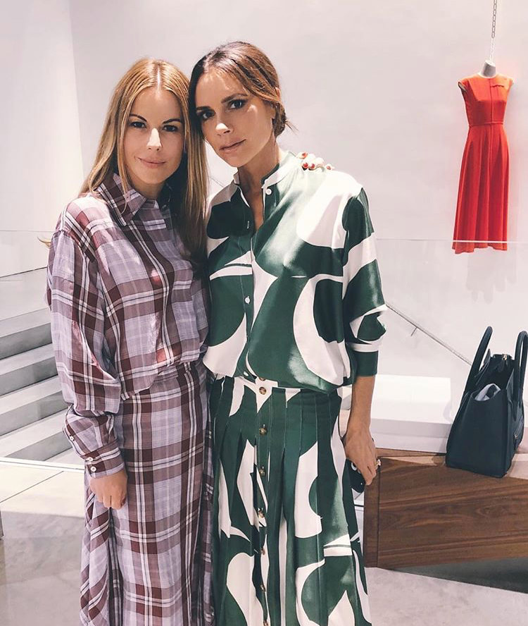 Juliet with Victoria Beckham