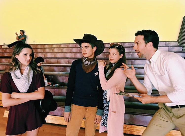 Sheridan (second from right) with costars Annie LeBlanc, Jay Ulloa, and Jarred Kjack