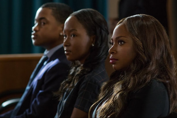 Donshea with her costars on Power