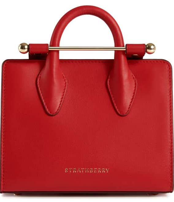 1. Strathberry Nano Leather Tote