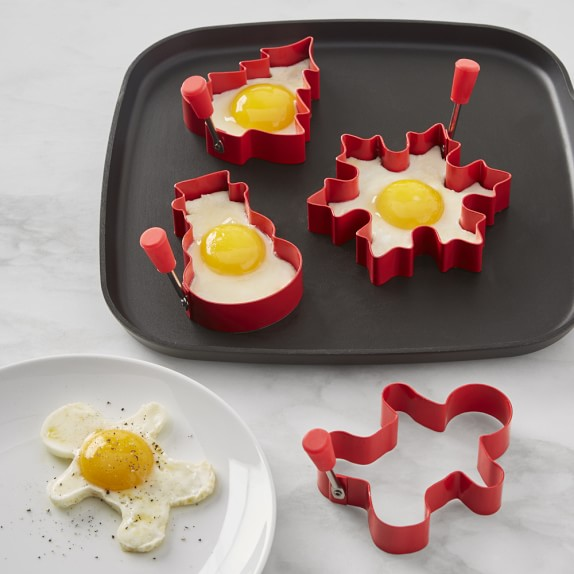 5. Williams-Sonoma Holiday Silicone Egg Fry Rings