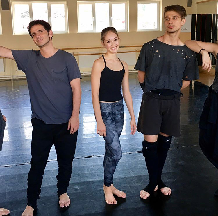 Juliet with Tyce Diorio (left)