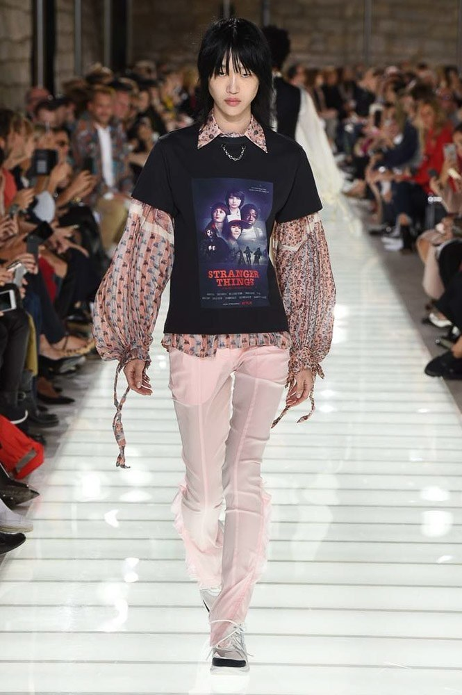 Louis Vuitton's Spring 2018 Collection includes a Stranger Things tee