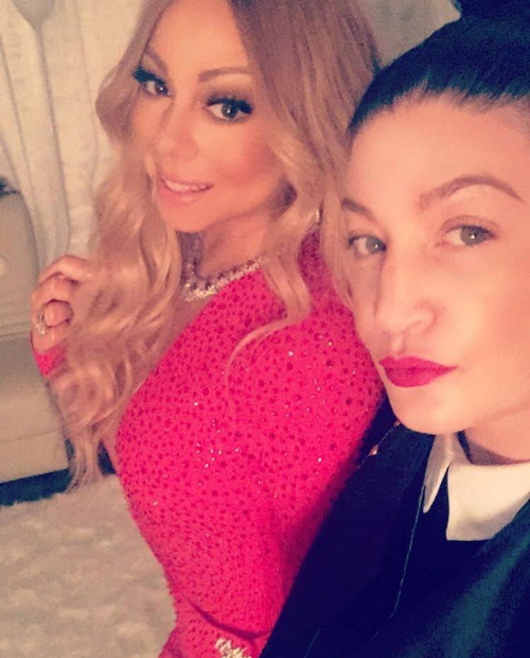 Danielle with Mariah Carey