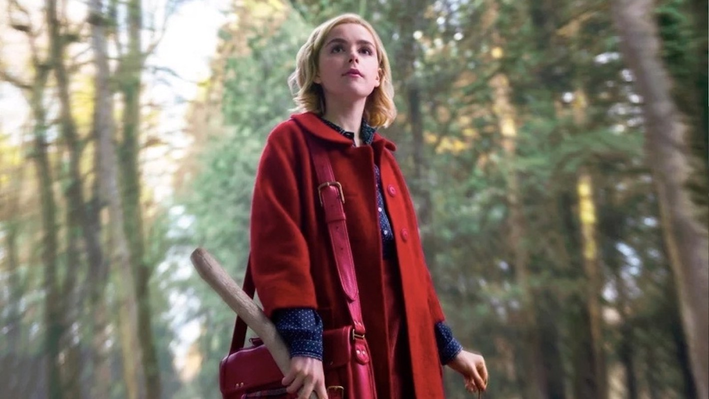 """Red riding hood gets a modern update in this """"bloodstained"""" ensemble, perfect for winter weather."""