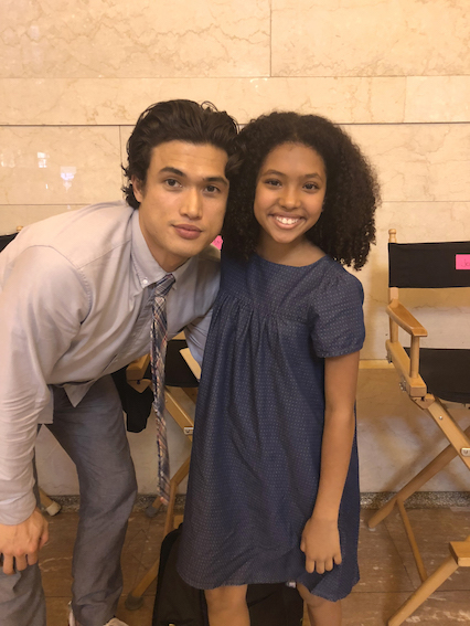 Lee with Charles Melton