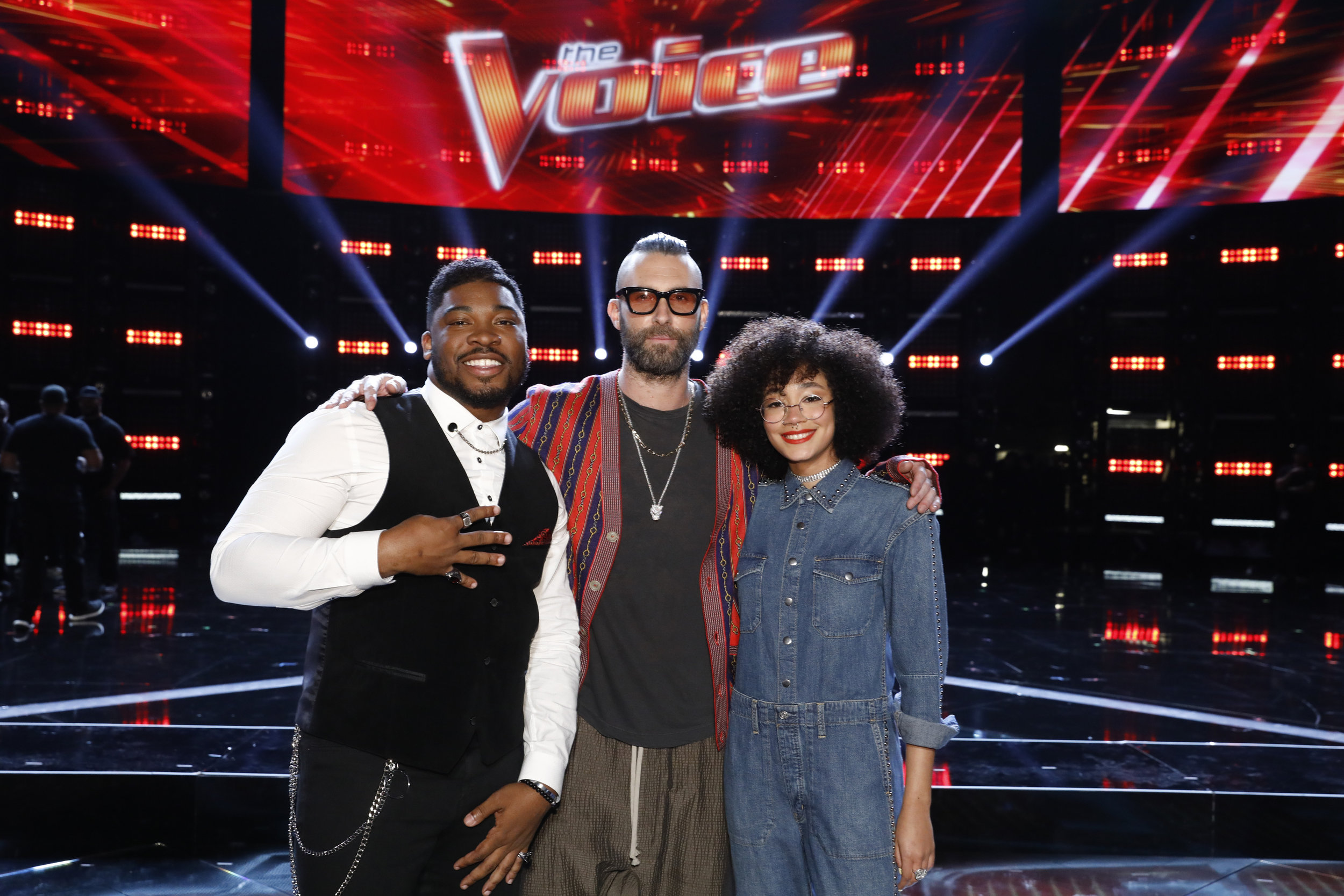 Levine (center) with (from left) LB Crew and Mari