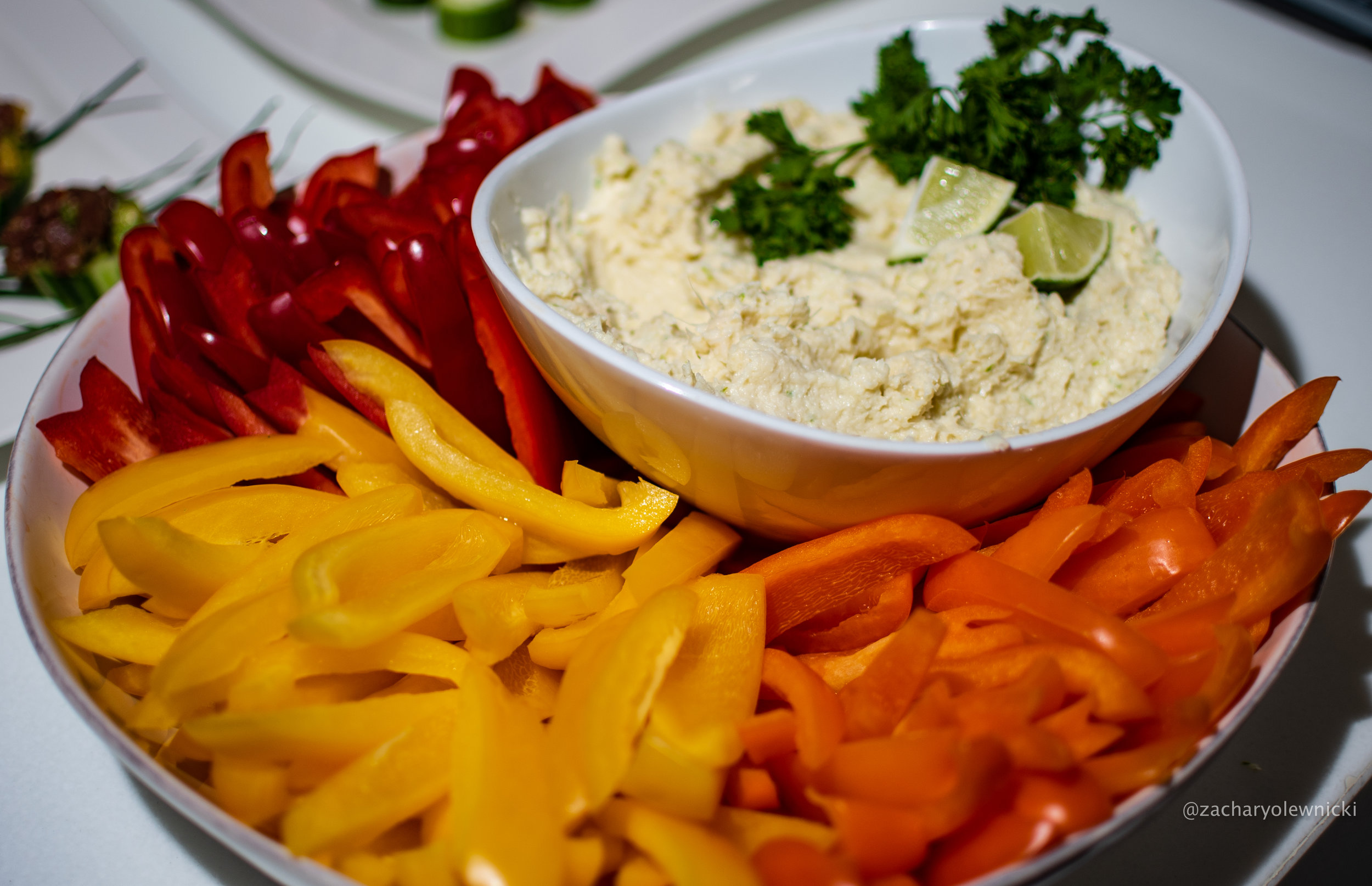 Crudités with Hearts of Palm Dip