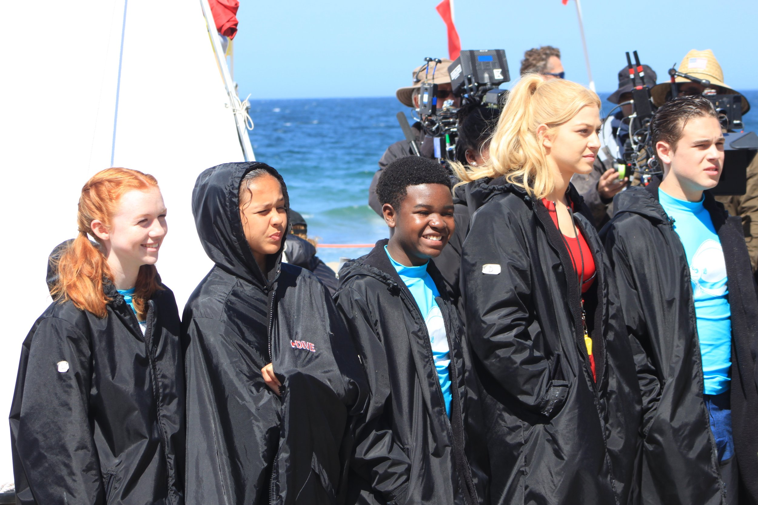 Brunson (center) with (from left) Abby Donnelly, Breanna Yde, Jackie R. Jacobson, and Ricardo Hurtado