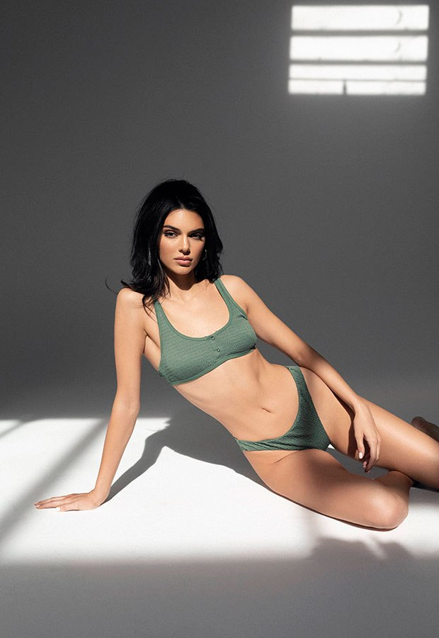 Kendall Jenner in a Kendall & Kylie Smocked Bikini