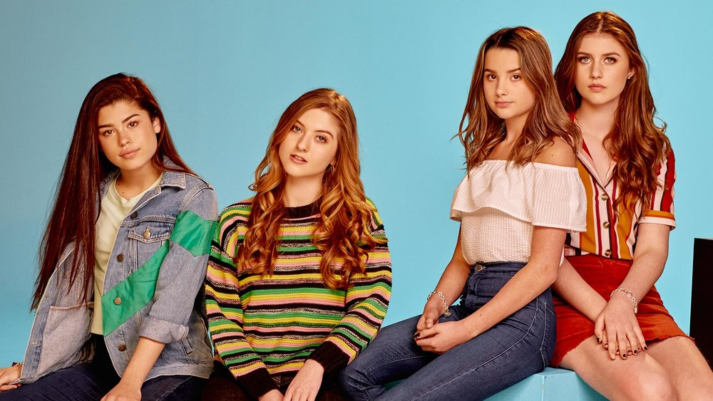 Marlhy (second from left) with castmates Dylan Conrique, Annie LeBlanc, and Brooke Butler