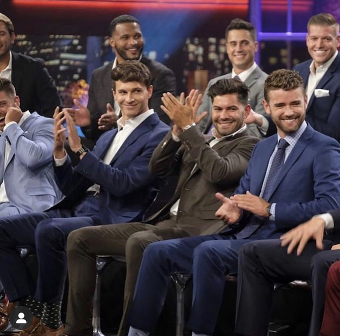 Donald (back row, far right) with fellow cast members on the  Paradise  reunion special