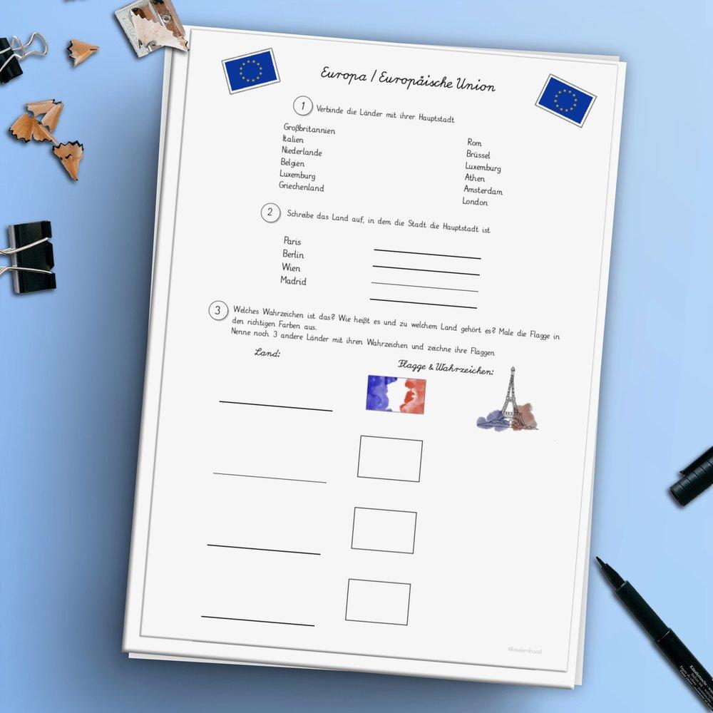 Europa/Europäische Union — Lese Lern Hund
