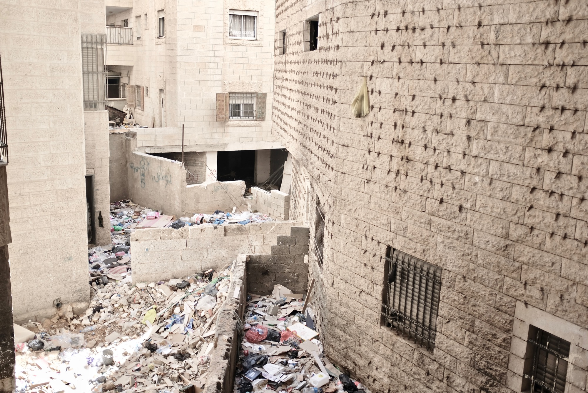 Kafr Aqab -Rubbish between buildings.jpg