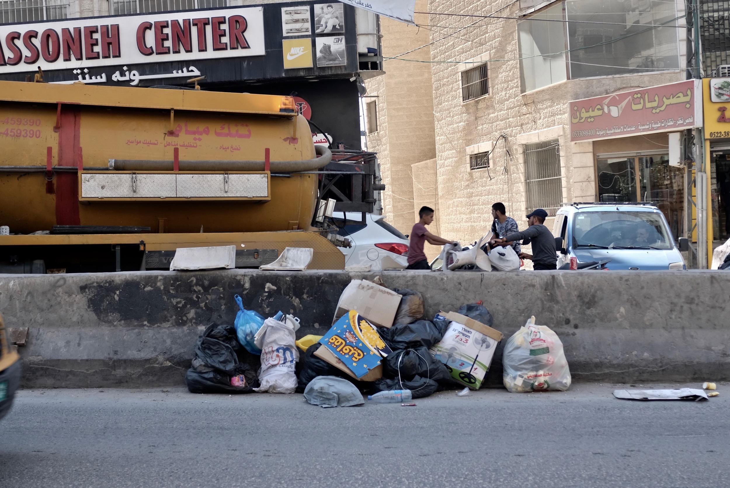 Kafr Aqab - Rubbish dump in street.jpg