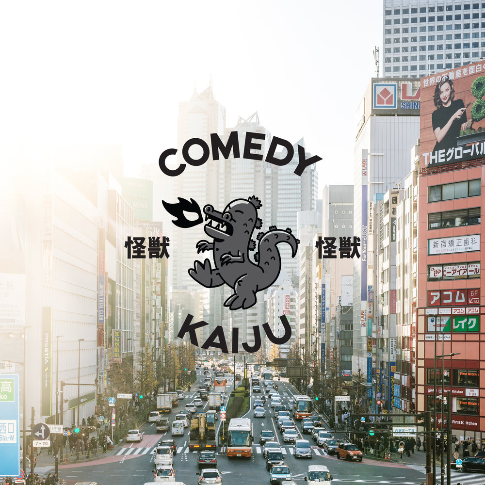 Comedy Kaiju  Branding For a Comedy Club . Work In progress