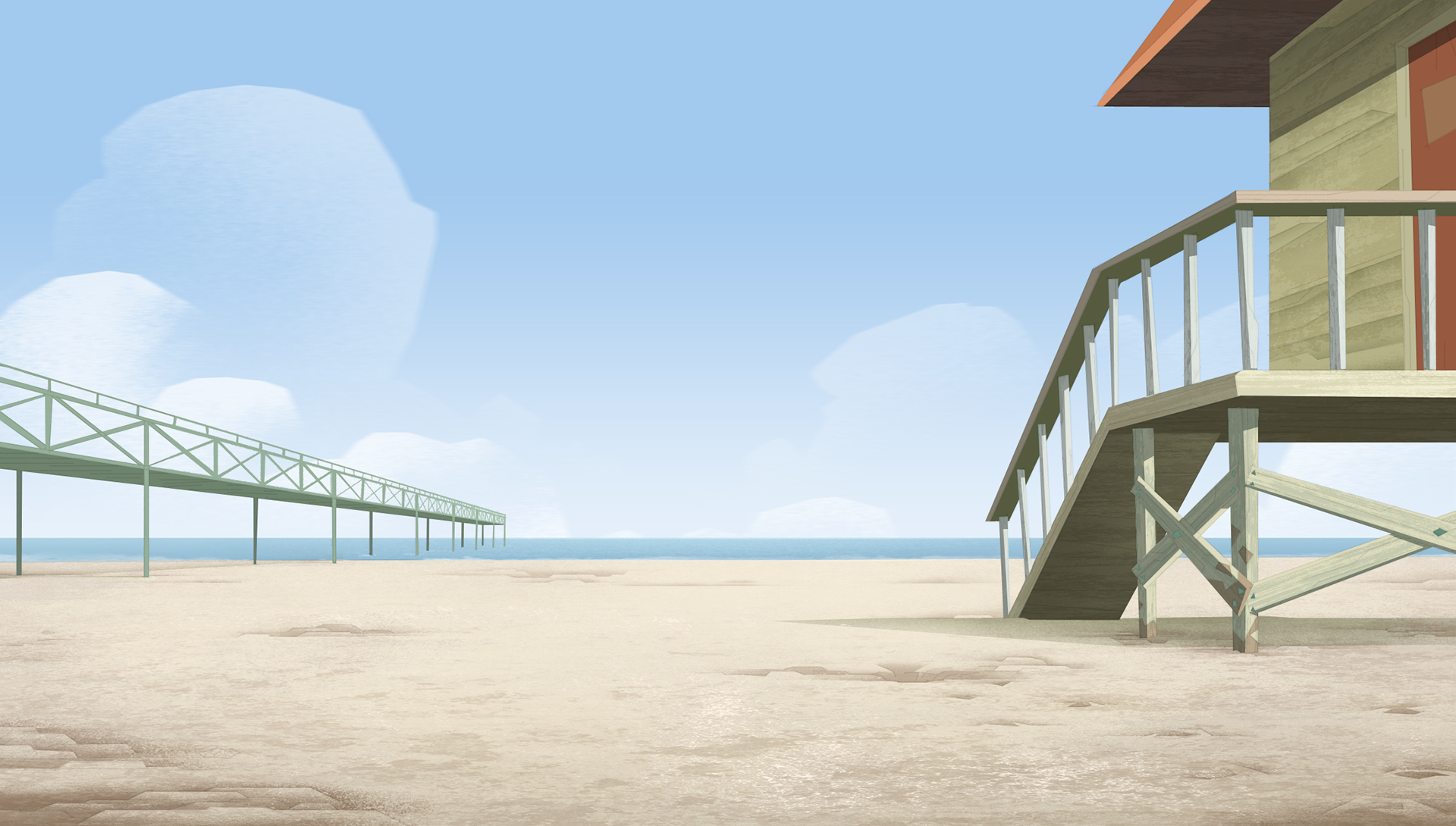 Background Illustration  These beautiful Backgrounds were created for the animated series ''The Green Squad''