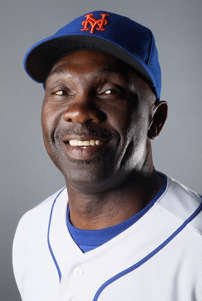 Mookie Wilson from his New York Mets playing days in the 1980s.