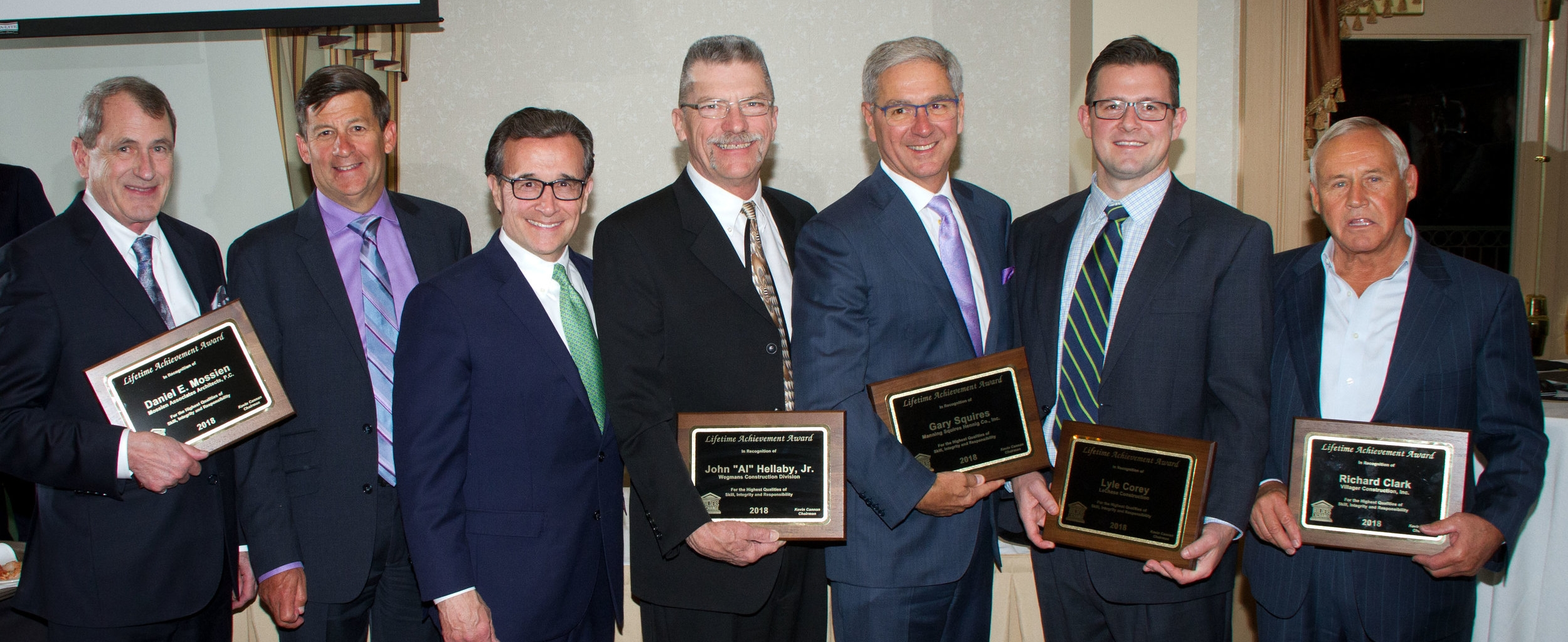 Rochester Builders Exchange Craftsmanship Award Winners.