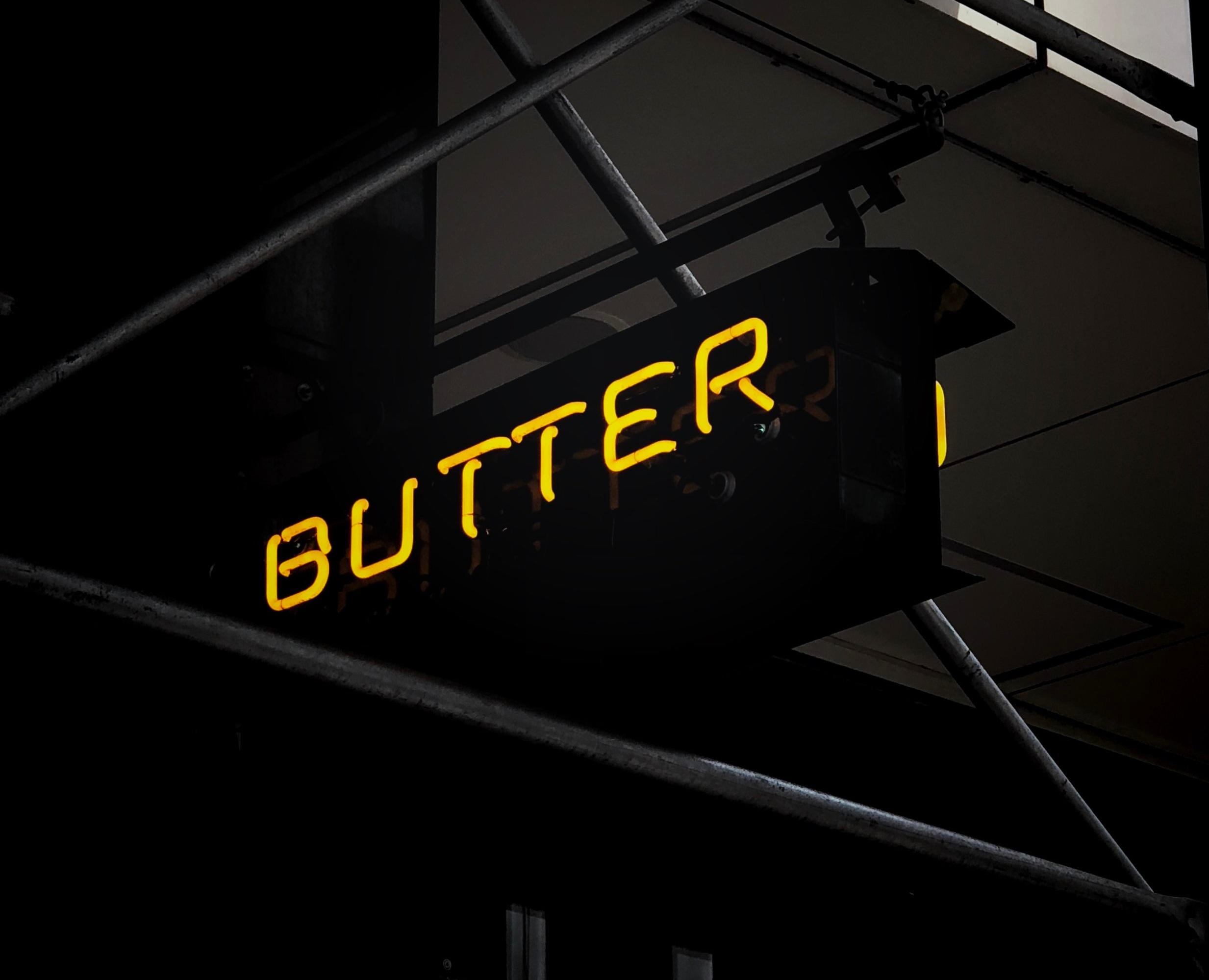 Grass fed organic butter