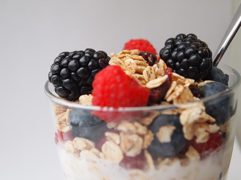 fresh fruit parfait -