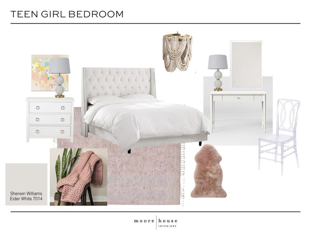 Teen Girl Bedroom Makeover — Moore House Interiors