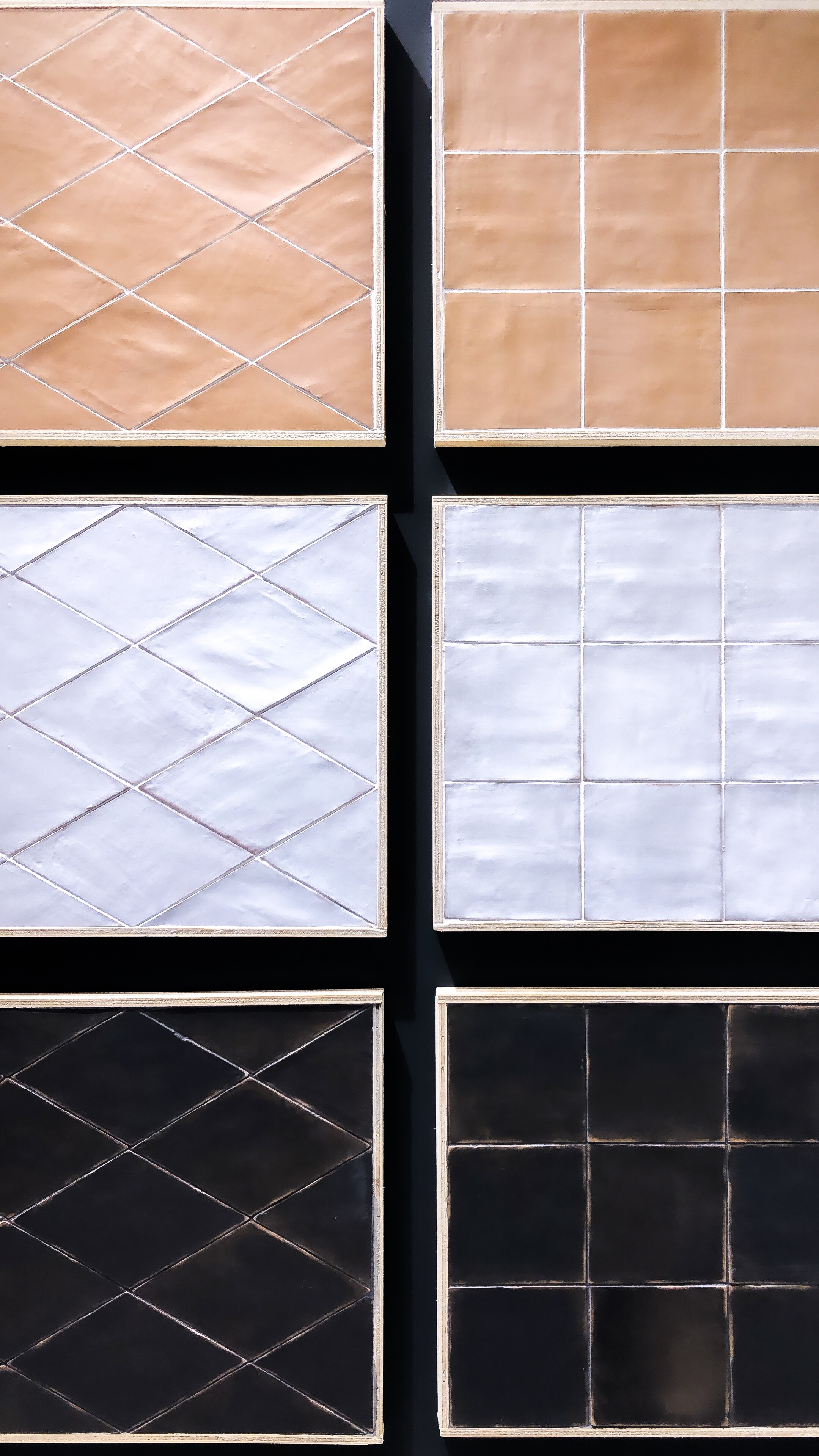 I loved this textured tile from Spain! There were a variety of colors but these 3 stole my heart.