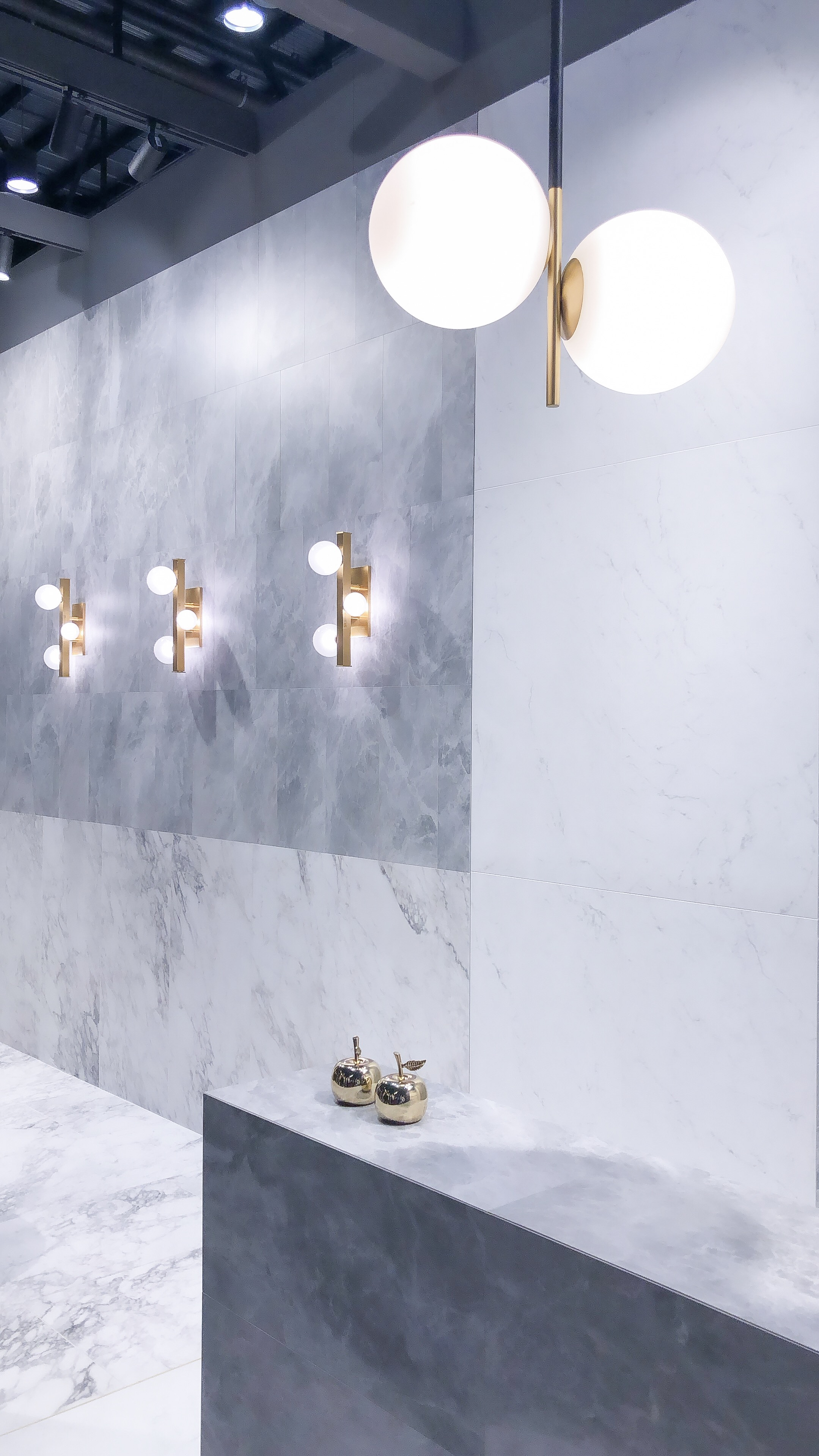 Lots of marble-look tile was shown at Coverings! It's amazing how far porcelain tile has come. The most realistic marble-look tile was porcelain more times than not at the show.