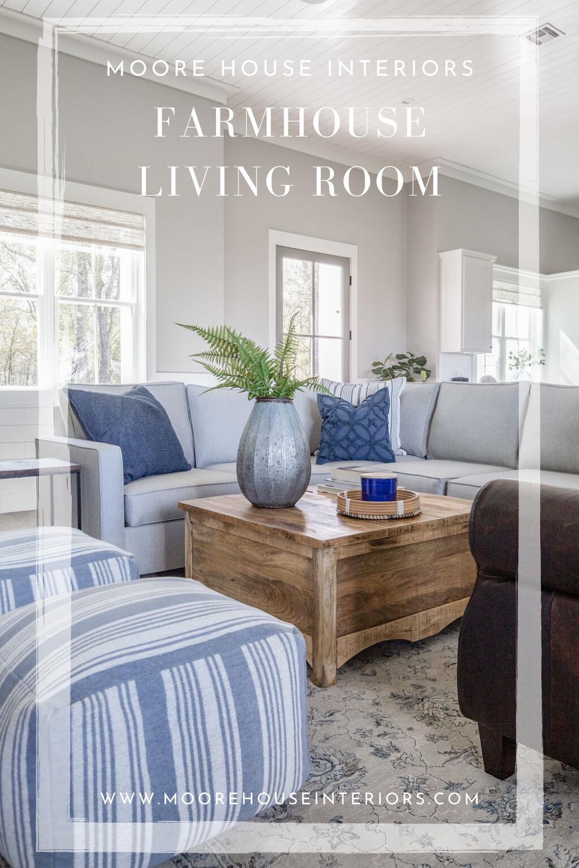 Farmhouse Living Room Moore House Interiors