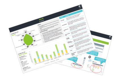 Client report demonstrating where to measurably improve the experience as it relates to efforts required.