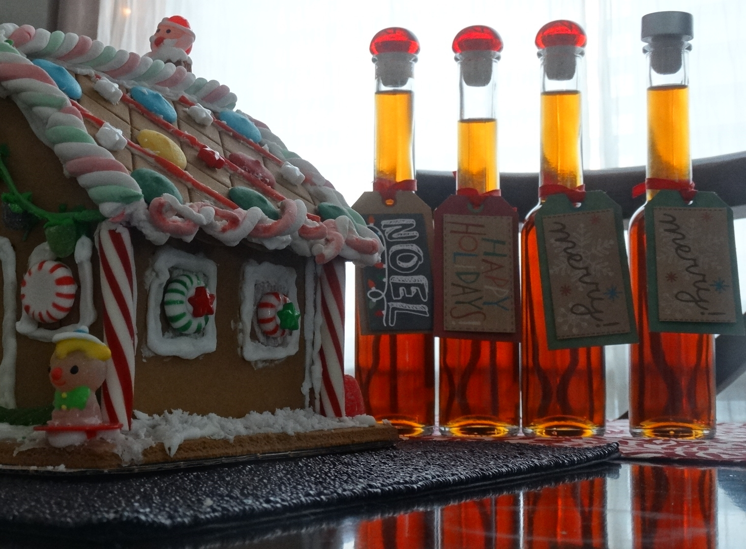Manhattan Mixers - Get creative with the presentation of your homemade gifts with custom tags, labels and jars (or in this case, bottles).