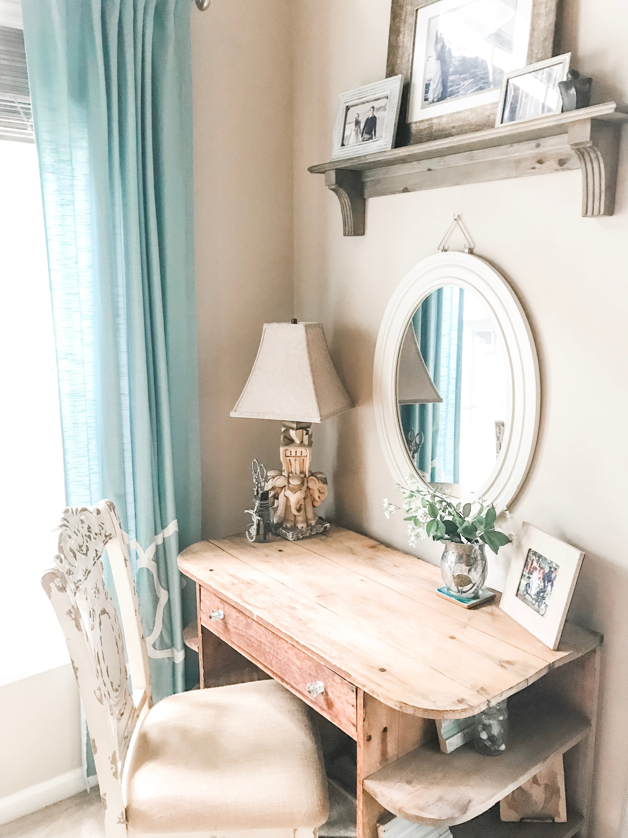 My Dad's Desk - The desk my dad built when he was 15 is one of my most treasured possessions. When I saw it had weathered the storm, my heart swelled.