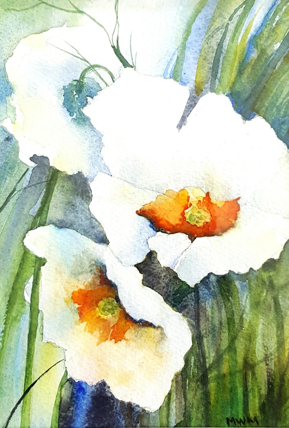 Katie's Flowers - Watercolor on 300 lb 100% cotton paper