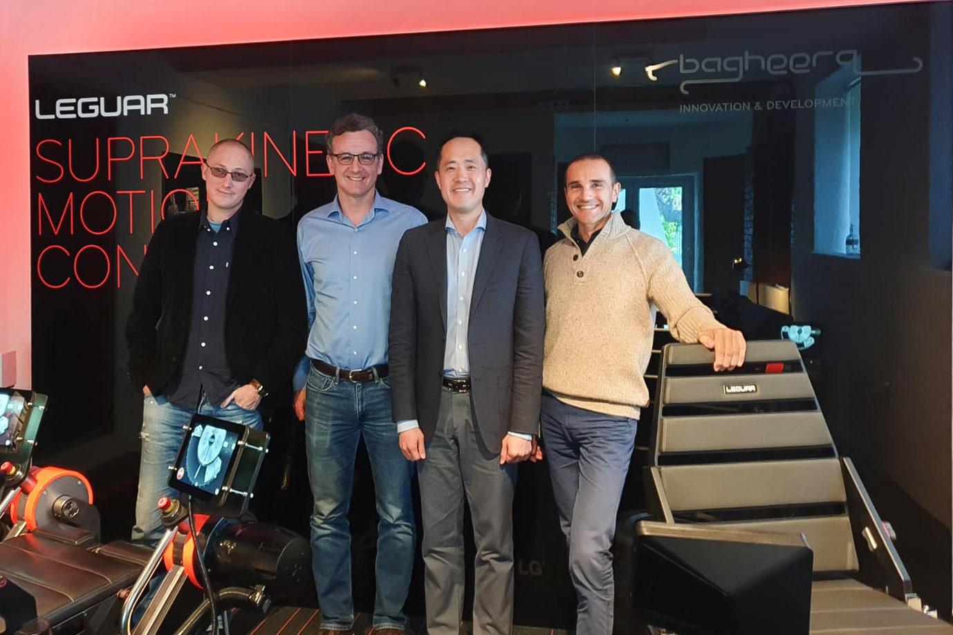 Left to right: Goran Lengelic, Mislav Jelic, Mr. Choi Jung-Seok, Luka Bakrac