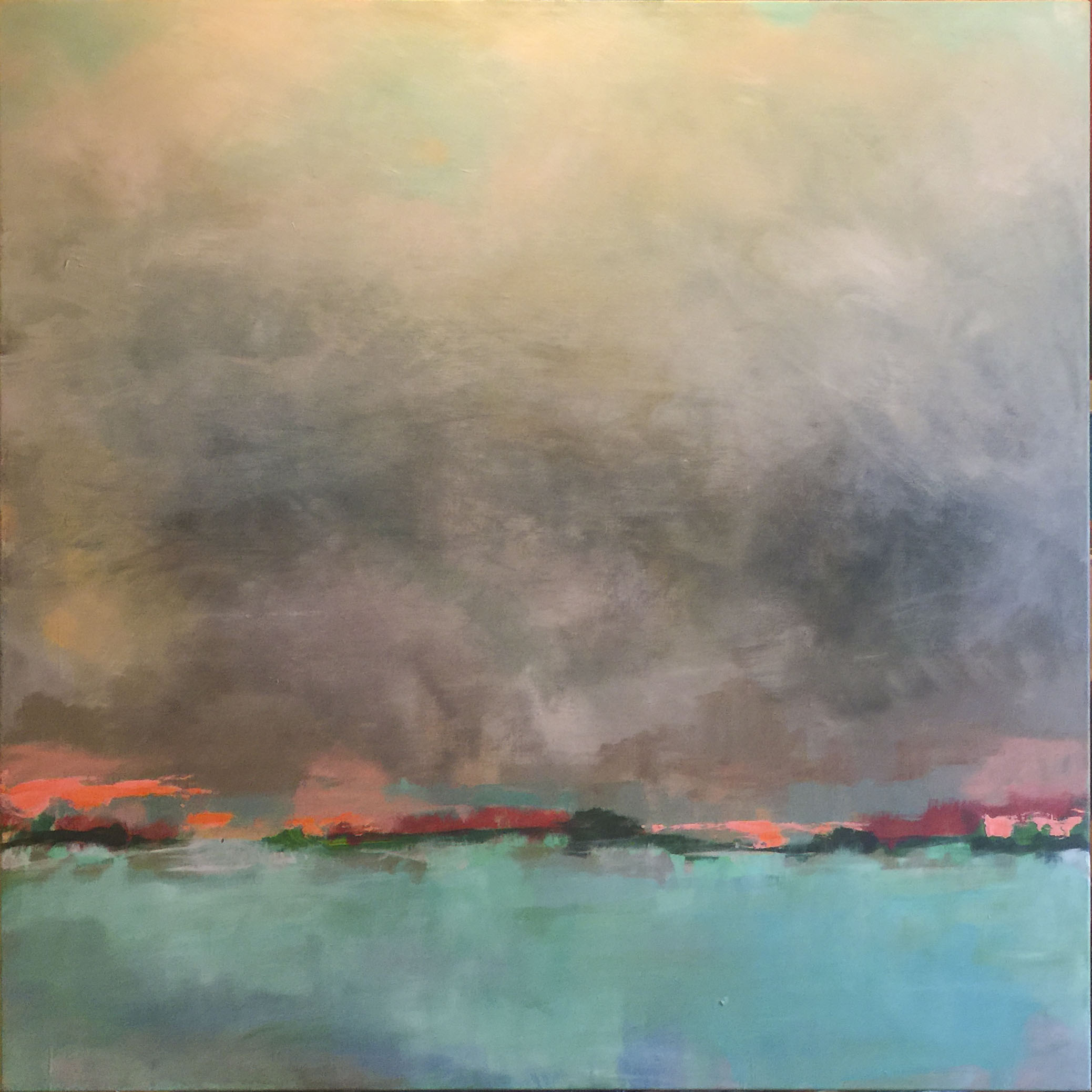 """Storm Over St. Thomas"" 30x30"