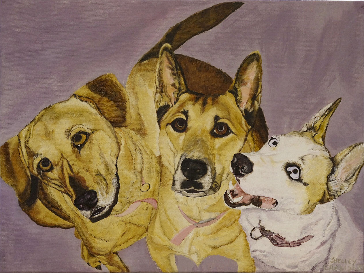 """My Three Girls"" 24 x18 NFS"
