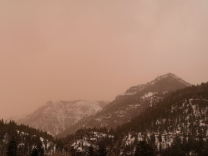 A 2009 spring dust event blankets the sky–Courtesy of Jack Brauer