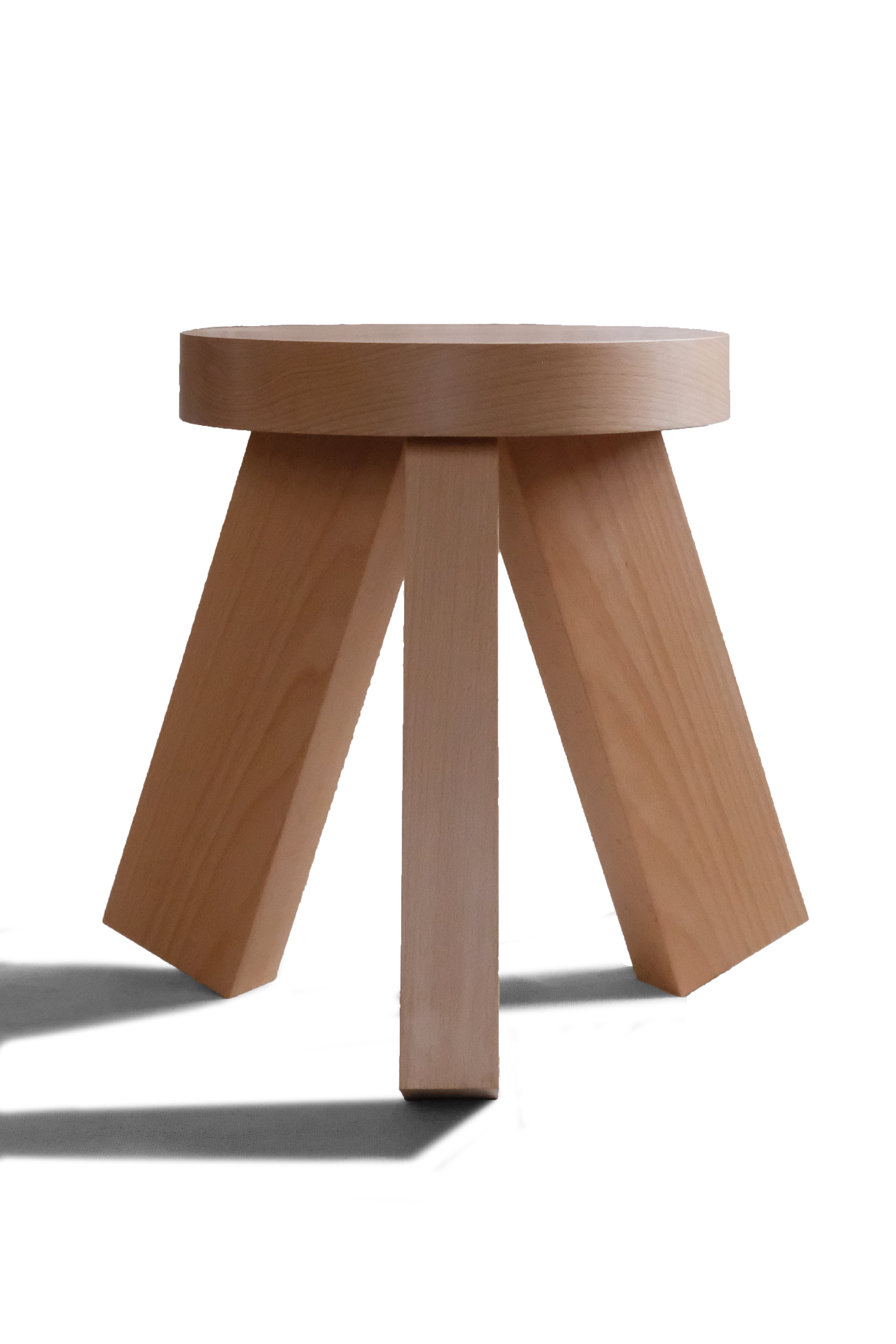Primitive Forms  |  White Stool  | Beech Wood | © Phat Design