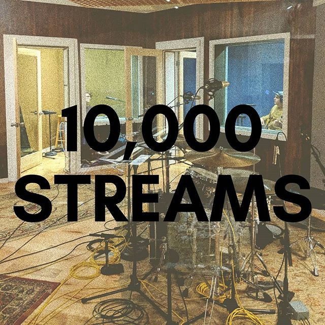 10,000 times you listened to our first single. 10,000 times you rocked out to the song we wrote and recorded with our hearts on the line. Thank you for making this one special to you, because this is massively special to us.
