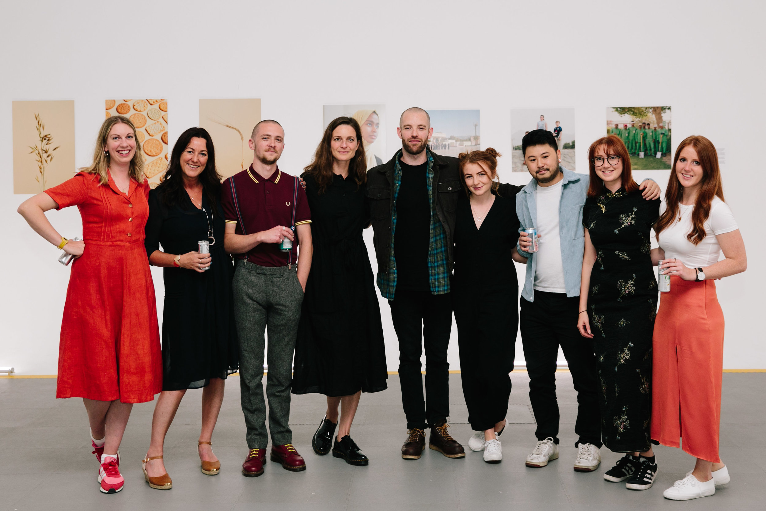 Lisa with the LPA Team and the 5 winners of LPA Futures 2019 at the recent launch party. From left to right- Clio, Lisa, Josh, Andrea, Andy, Frankie, Gavin, Chloe and Anna. © Raccoon London