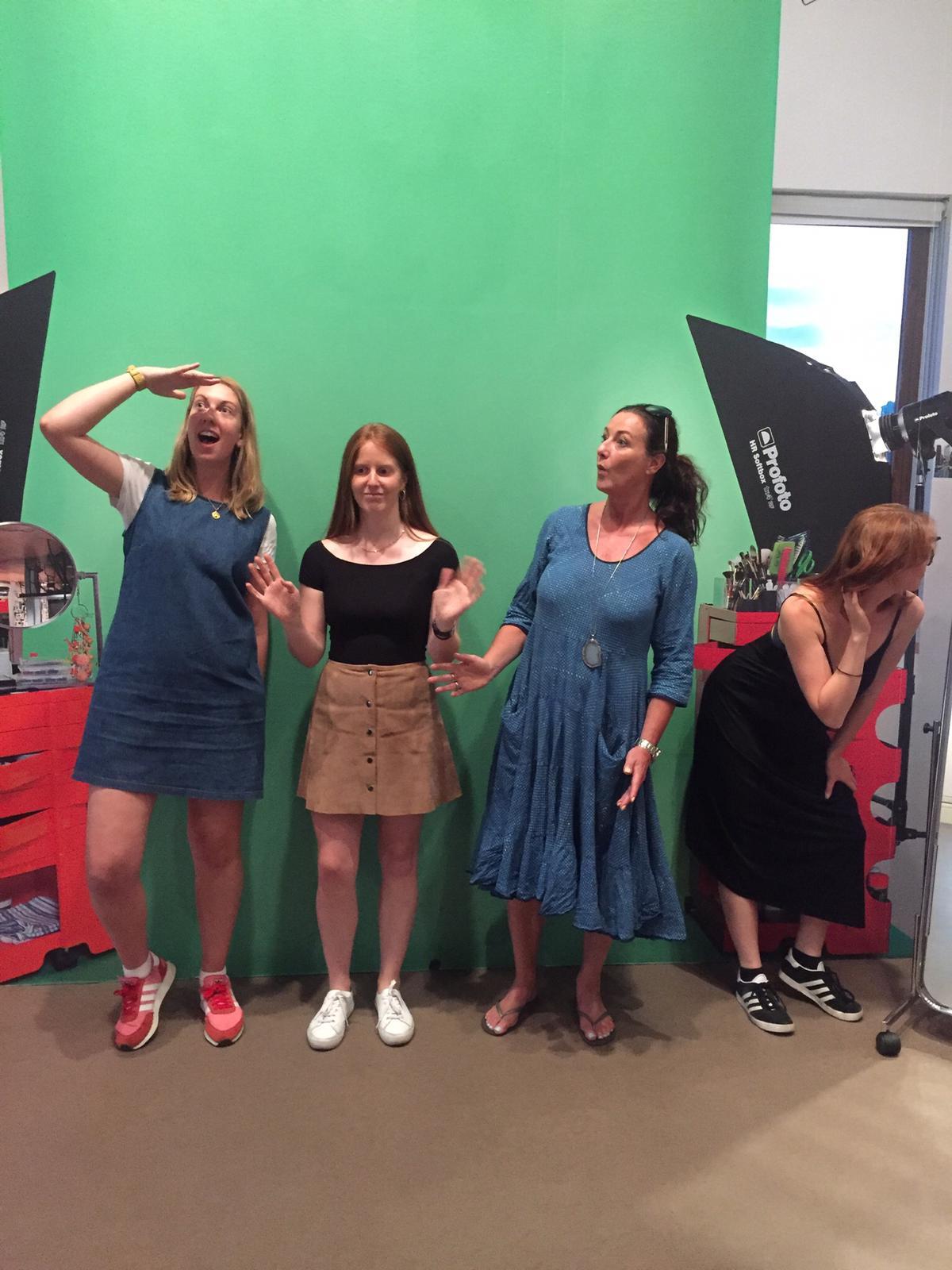 Clio, Anna, Lisa, Chloe (and Georgina behind the camera)